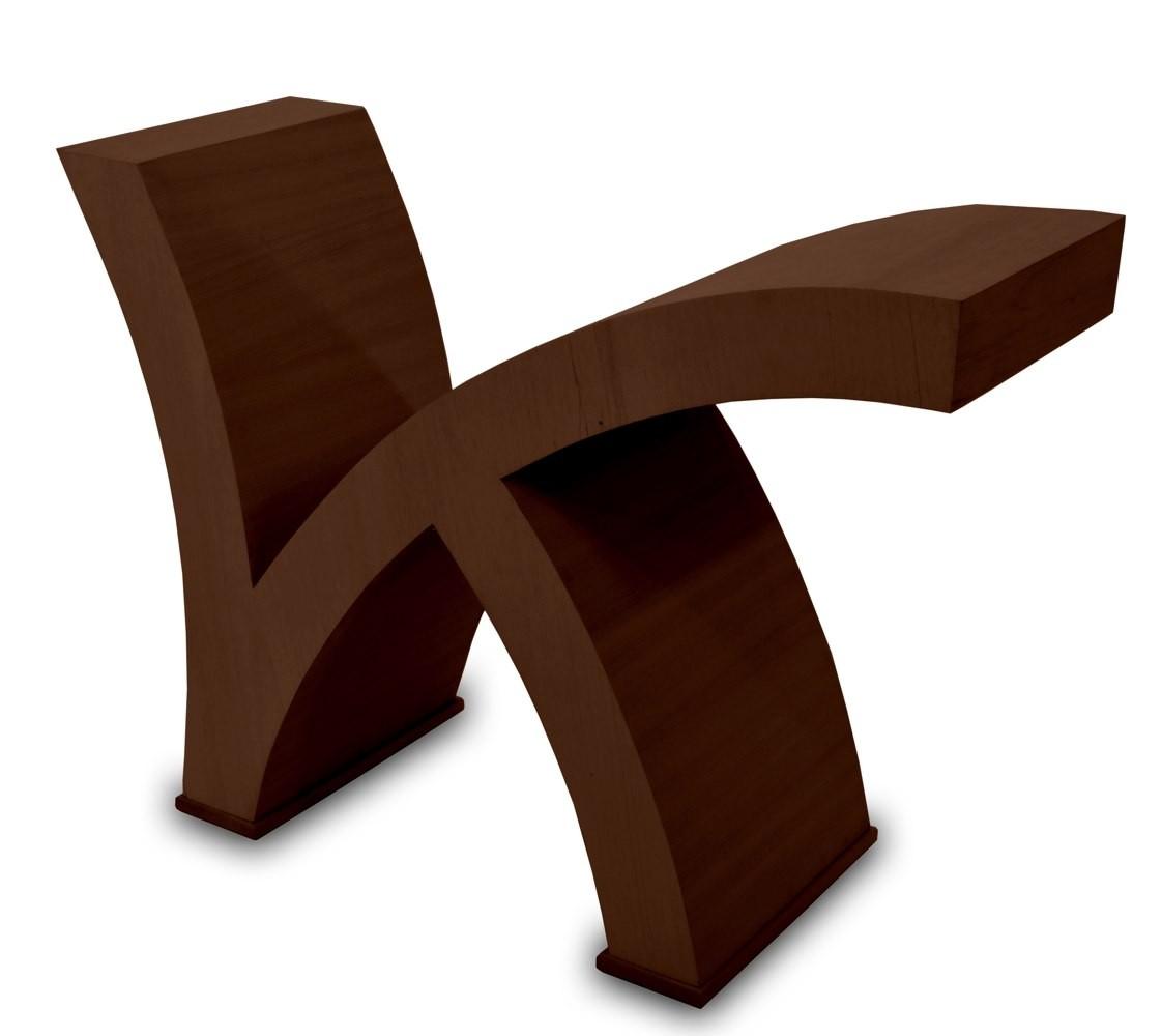 Base de mesa k imbuia for Bases de mesas cromadas