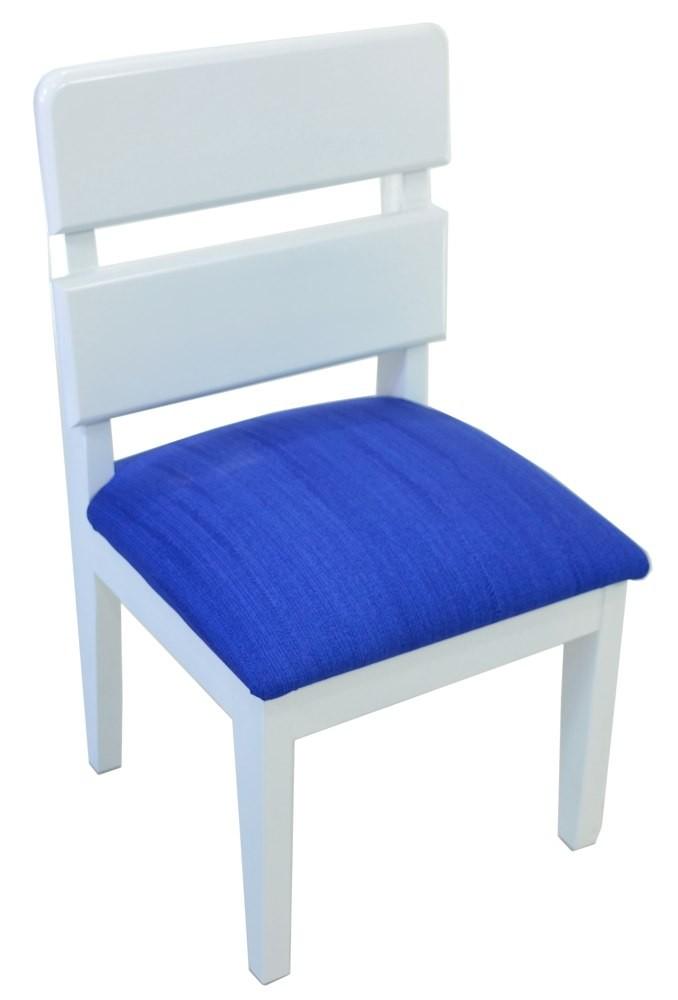 Mini Cadeira Infantil - Branca e Azul